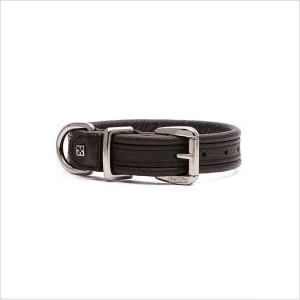 Pl Es Leather Plain Collar Black Xs 30cm