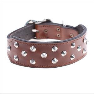 Pl Es Leather Staffy Collar Pink L