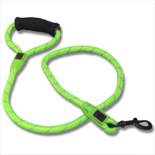 Bb Rope Leash Clip & Stop Reflective Hdl