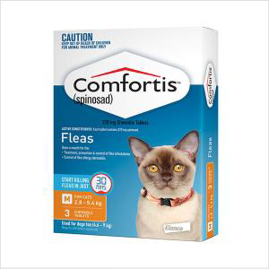 Comfortis Cat Orange 2.7-5.4 3pk
