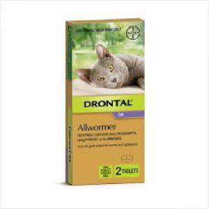 Bayer Drontal Cat Ellipsoid 4kg 2 Tab
