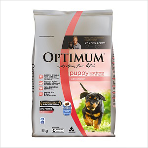 Optimum Puppy Lrg Bred Chicken 15kg