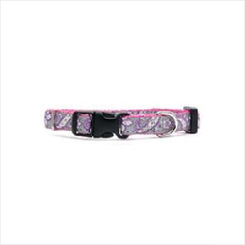 Pl Ls Fashion Puppy Collar Paisley Pink