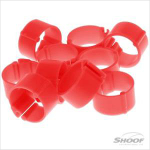 Shoof Poultry Leg Band Clip On 9mm Red