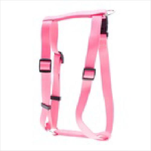 Pl Ess Nylon Adj Pink Harness M 35cm-50c
