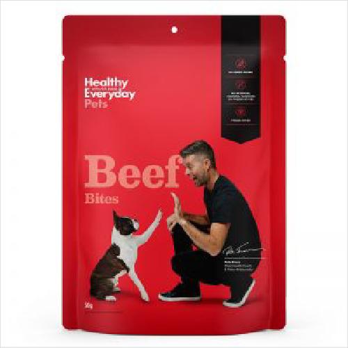 Healthy Everyday Pets Beef Bites 50gm