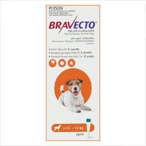 Bravecto Spot On Dog Small 4.5-10kg