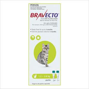 Bravecto Spot On Cat Small 1.2-2.8kg