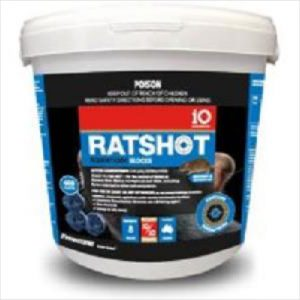 Io Ratshot Blocks 800gm Blue Difenacoum