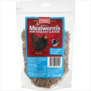 Peters Dried Mealworms For Poultry 100g