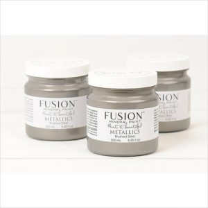 Fusion Paint Metalic Brushed Steel 250ml