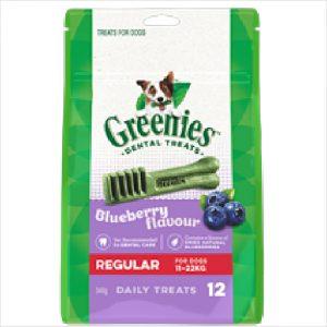 Greenies Dental Blueberry Regular 340gm